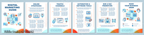 Fotografiet Digital marketing guide brochure template layout
