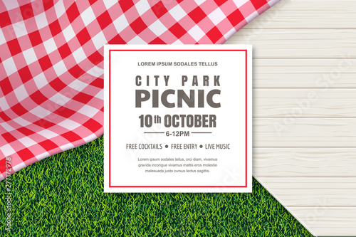 Photo Picnic poster or banner design template