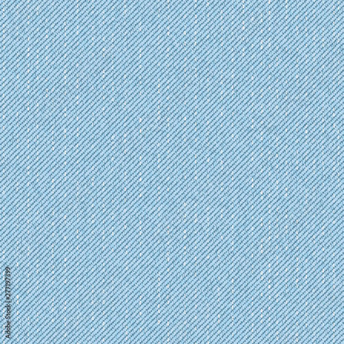 Fotografie, Tablou Light blue denim seamless pattern. Vector background