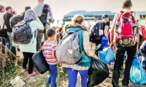 Valokuva The refugees