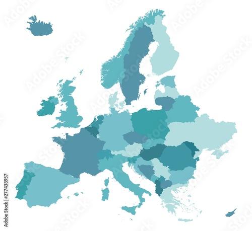 Wallpaper Mural Map of Europe