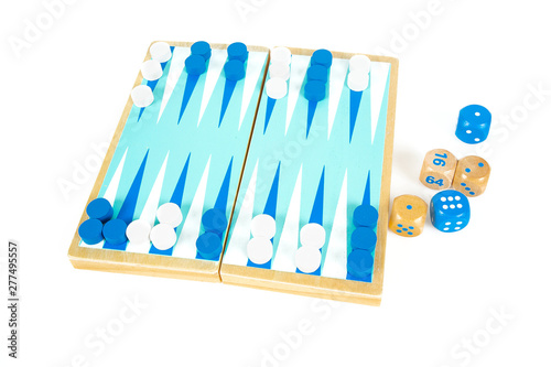 Fotografia Backgammon playing field and dices