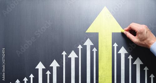 Obraz na płótnie Business leadership and development concept