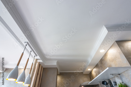Photo False ceiling in a small kitchen