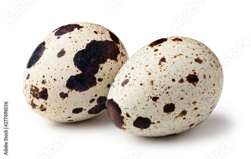 Photo Quail eggs isolated on white background