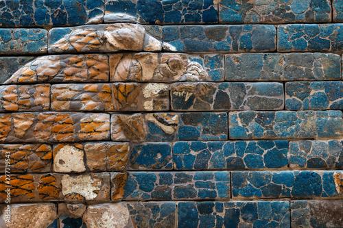 Stampa su Tela ancient lion relief