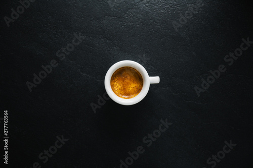 Cup of fresh made coffee served in cup Fototapeta