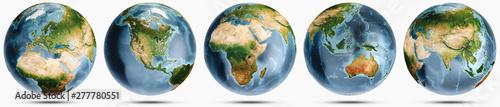 Fotografie, Tablou Planet Earth clear globe set