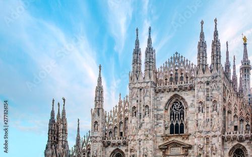 Fotografie, Obraz Milan Cathedral - (Duomo di Milano (Milan Cathedral) and Piazza del Duomo in Mil