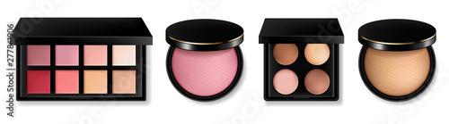 Canvas-taulu Cosmetics set Vector realistic