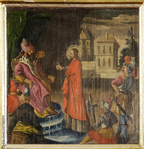 Christ before Pontius Pilate, altarpiece in the Church of the Saint Barbara in V Fototapeta