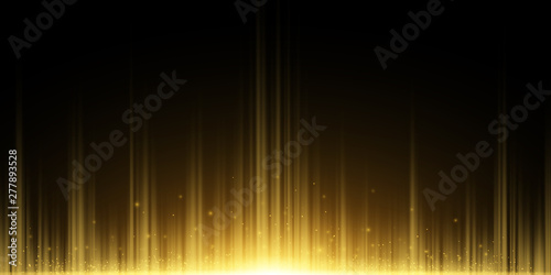 Fototapeta Abstract background of golden rays