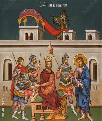 Fotografie, Obraz Jesus and Pilate