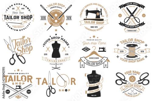 Obraz na plátne Tailor shop badge