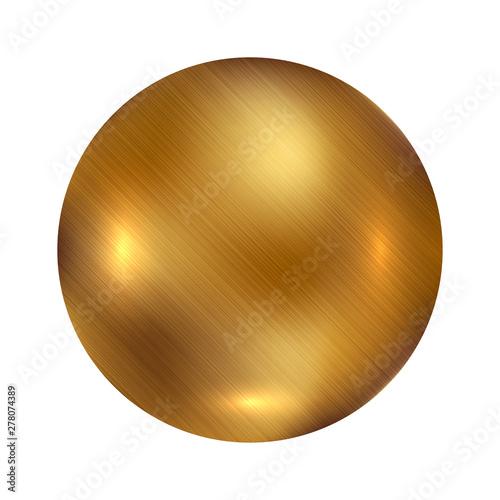 Cuadros en Lienzo Vector of gold ball