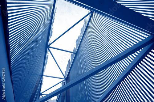 Murais de parede Beautiful steel frame building