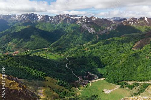 beautiful panorama of the Picos de Europa