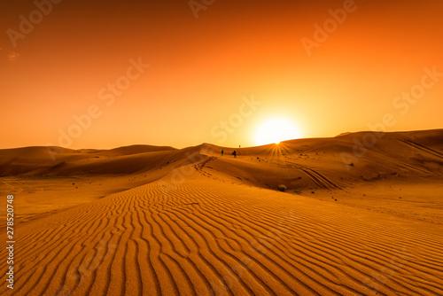 Fotografia Desert, sunset in desert, desert in Dubai