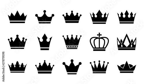 Fotografia Vector flat crowns