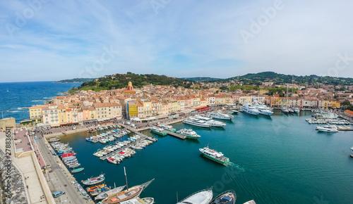 Fotografia Panorama of Saint Tropez, Cote d'Azur, France, South Europe