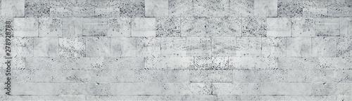 Canvas Print Tuff stone block wall wide texture
