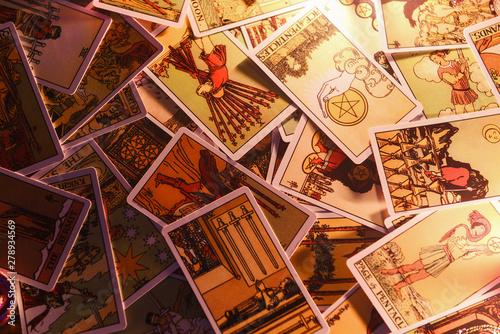 Fototapeta tarot cards for tarot readings psychic as well divination