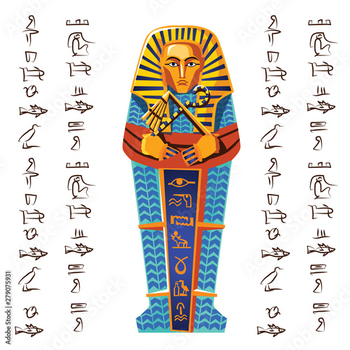 Ancient Egypt vector cartoon illustration Fototapeta