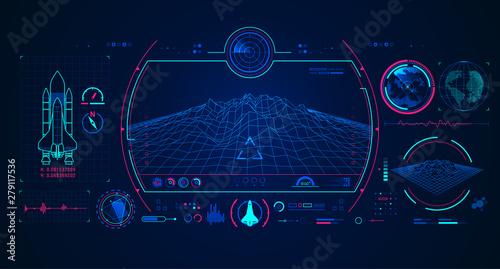 Obraz na plátně spaceship radar