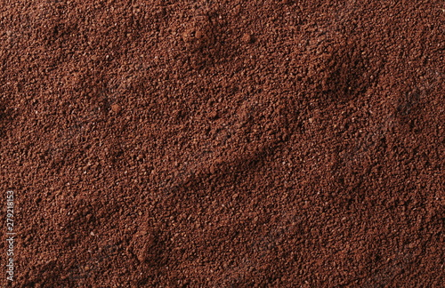 Fotografia Pile of powdered, instant coffee background and texture, top view
