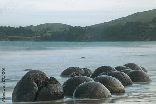 Carta da parati Moeraki Boulders on Koekohe Beach, Otago, South Island, New Zealand