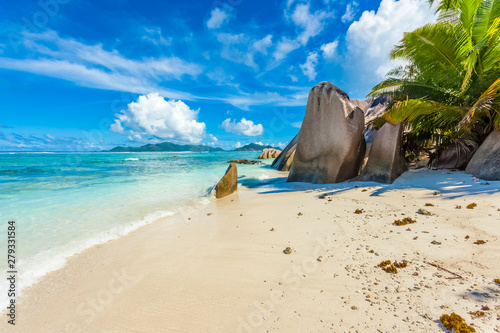 Stampa su Tela Anse Source d'argent, la Digue, Seychelles