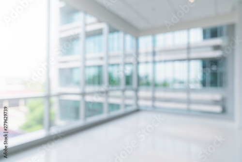 Stampa su Tela blur image background of corridor in hospital or clinic image