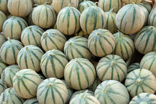 Fotografia Ripe melon on street market