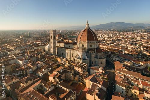 Canvastavla panoramic view of Florence and Basilica di Santa Maria del Fiore, Saint Mary