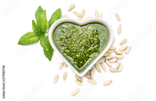 Fotografie, Obraz Genoese pesto sauce with basil and pine nuts