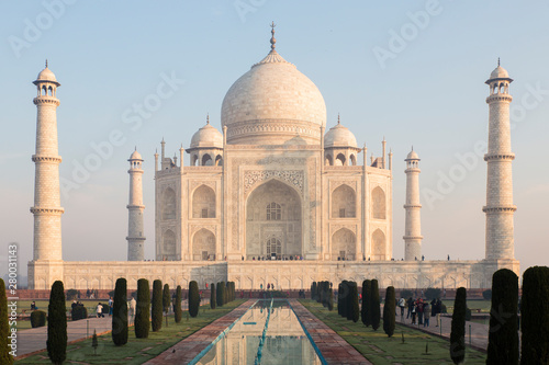 Fotografia Agra, Taj Mahal in the sunset