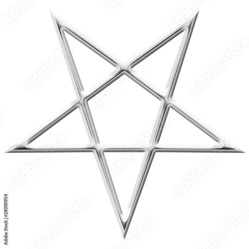 Photo Reversed Pentagram symbol