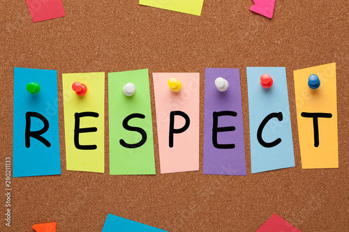 Wallpaper Mural Respect On Colorful Stickers