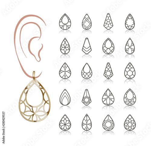 Leinwand Poster Vector designs of earring
