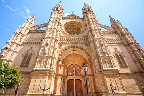 Facade of The Cathedral in Palma de Mallorca, Spain