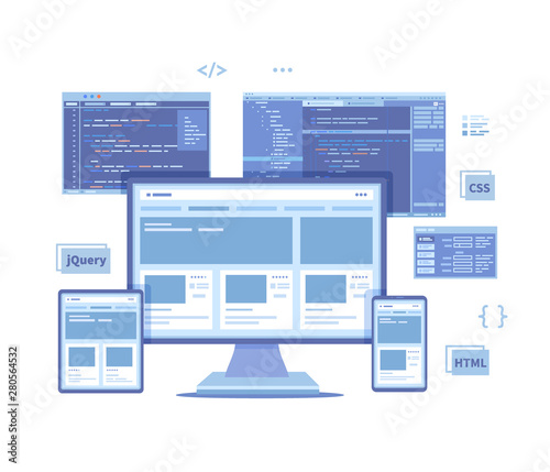 Fotografie, Obraz Frontend Development, Creating a site layout, template