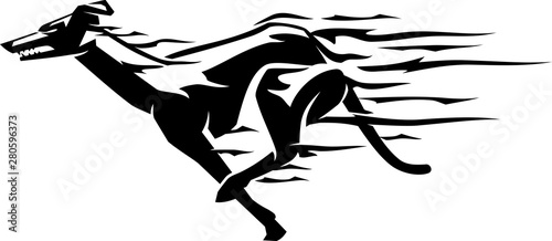 Fotografiet Greyhound Fast Flame Trail Body