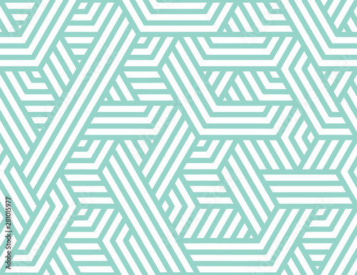 Wallpaper Mural Abstract stripes, line vector seamless pattern
