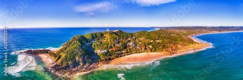 Obraz na plátne D Byron bay head beach close