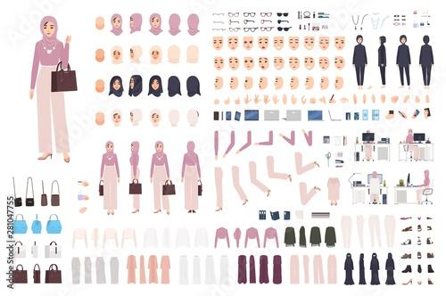 Canvas Print Young elegant Arab woman in hijab DIY set or constructor kit