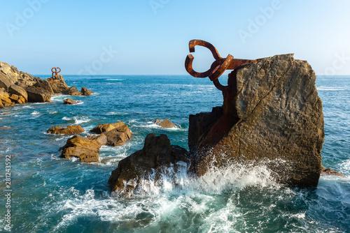 The Comb of the Wind in Donostia-San Sebastian, Spain Fotobehang