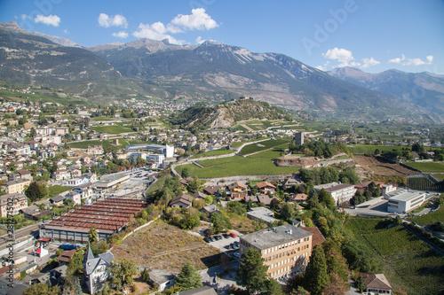 Sierre en Suisse, Valais Fototapeta