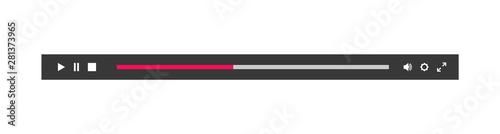 Fotografia Minimized video player bar or audio player control panel.