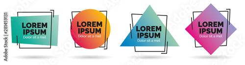 Fotografia, Obraz Set of modern abstract vector banners