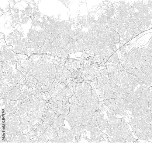 Fotografie, Obraz Satellite map of São Paulo, Sao Paulo, it is the most populous city in Brazil